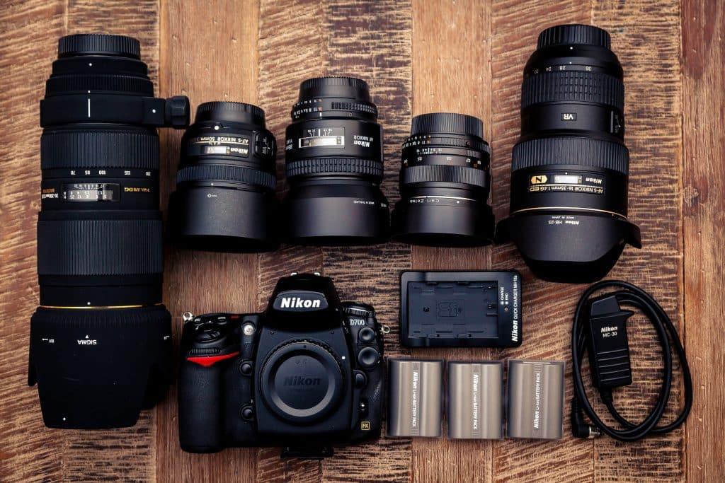 Nikon camera and its lenses
