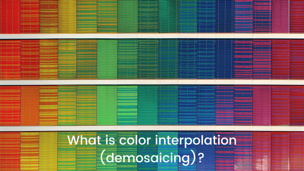 What is color interpolation (demosaicing)